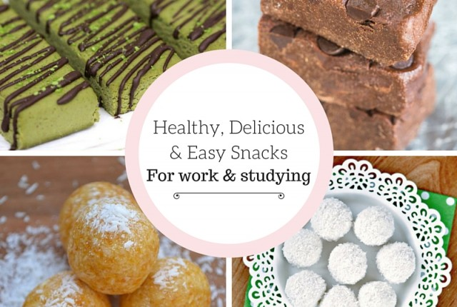 6 Healthy, Delicious & Easy Snacks For Work & Studying That Will Satisfy Your Sweet Tooth - Click to read more about these healthy, yummy treats and how you can make them!